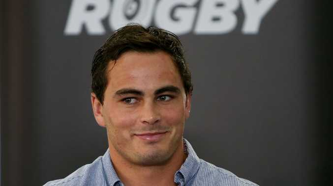 Zac Guildford looks on during a press conference at New Zealand Rugby House on March 14, 2013 in Wellington, New Zealand.