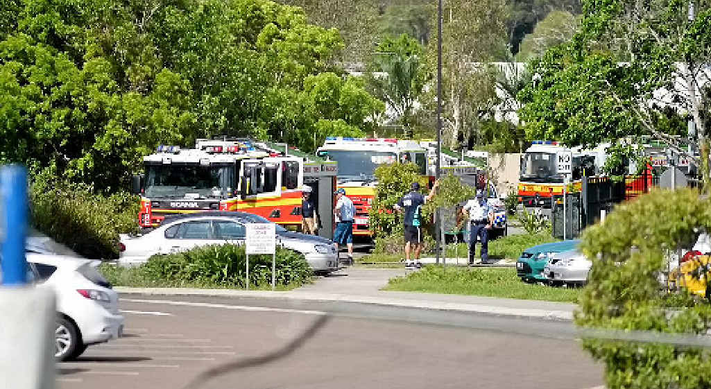 Emergency services at the Pacific Lutheran College fire.