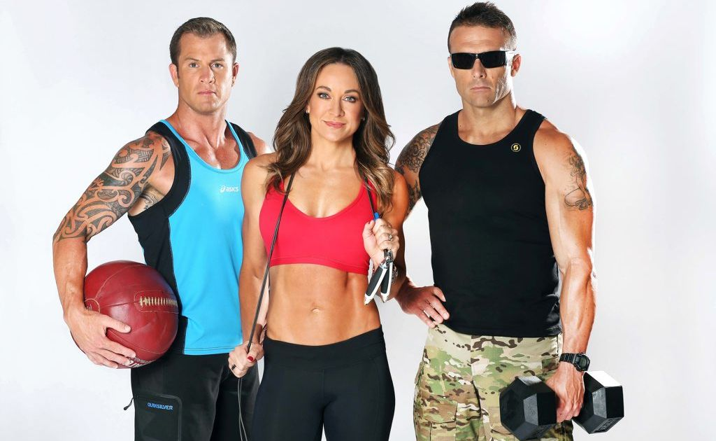From left, Shannan Ponton, Michelle Bridges and Steve 'Commando' Willis star in the new TV series The Biggest Loser: The Next Generation.