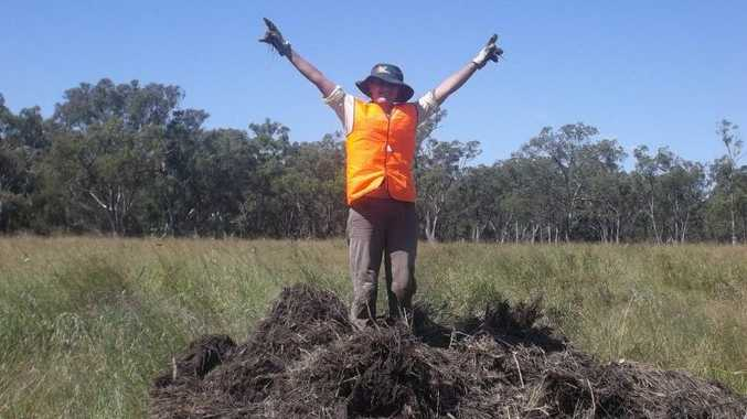 Michelle Ricketts from the UK spent three months volunteering with the Queensland Murray-Darling Basin's flood crews in the Maranoa region last year. Photo Contributed