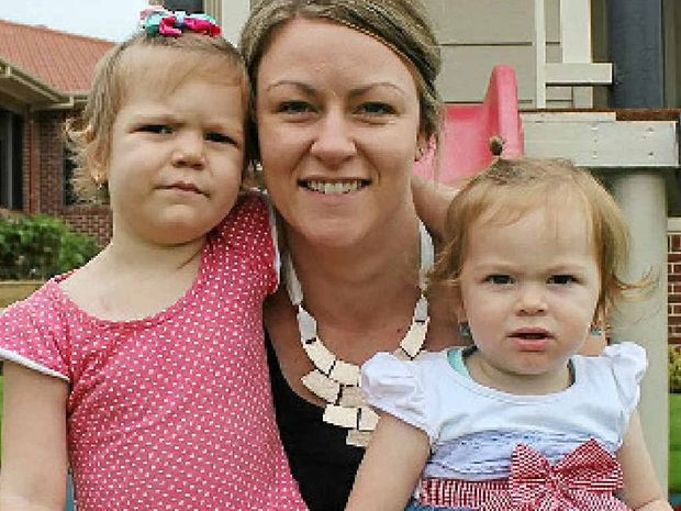 FIGHTING ON: Leukaemia patient Allie Robinson with her mum Chloe and sister Erica.