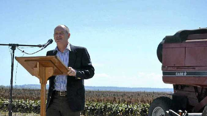 HARVEST TIME: Premier Campbell Newman announces the $4m Gates Foundation grant.