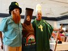 Patrick Broadfoot, Esther Smith and Kevin Gordon were celebrating 'Seniors Week' with the St Patricks Day theme at the Yamba Bowling Club on Sunday. Photo Debrah Novak / The Daily Examiner