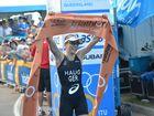 Anne Haug wins the Mooloolab Triathlon