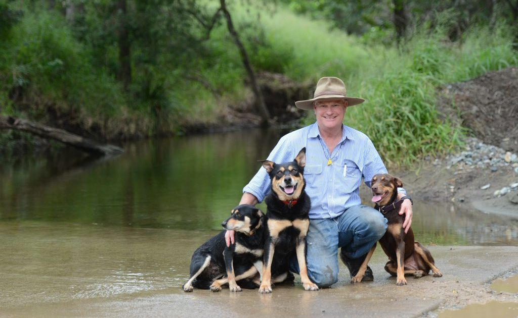 David Hart and his dogs.