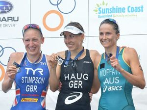 German shifts gear to claim victory at Mooloolaba Tri
