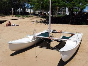 Washed-up catamaran reunited with its owner