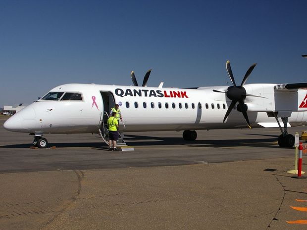 A Qantaslink Dash 8 enroute from Coffs Harbour to Sydney made an emergency landing in Tamworth last night.