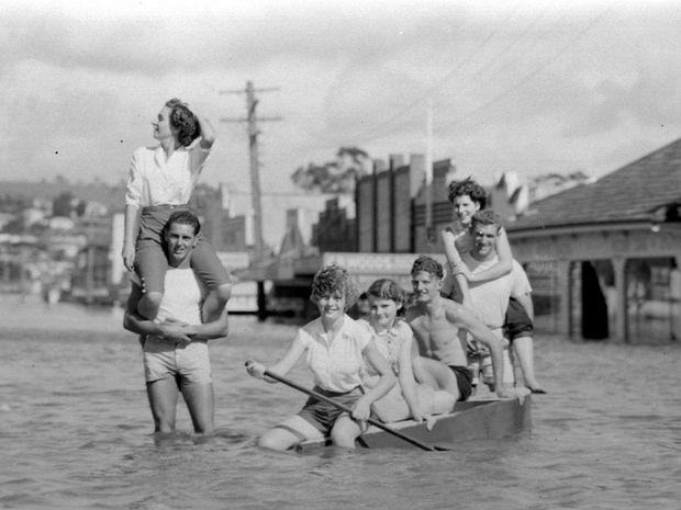 The 1954 flood at Lismore.