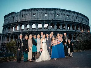 Rocky couple, Tracey and Billy-Joe Siddins, married in Rome