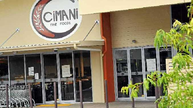 Closed signs have been posted to the windows at Cimani Fine Foods, Buderim.