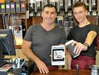 Cherry Tree owner Scott Morton and trainee chef Alex Pettit show the Txt4coffee app.