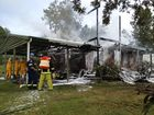 House gutted by fire at Nana Glen