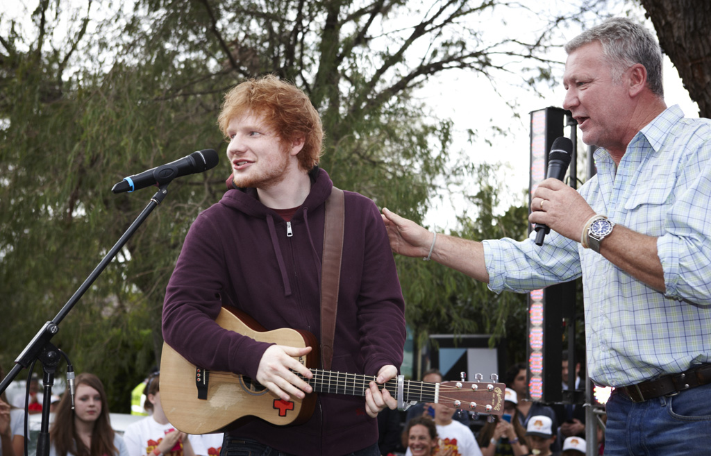 Ed Sheeran was the surprise guest at the auction.