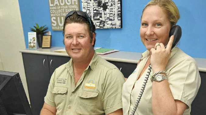Cotton Tree Holiday Park managers Trent and Natalie Hammill are bracing for the Easter rush.