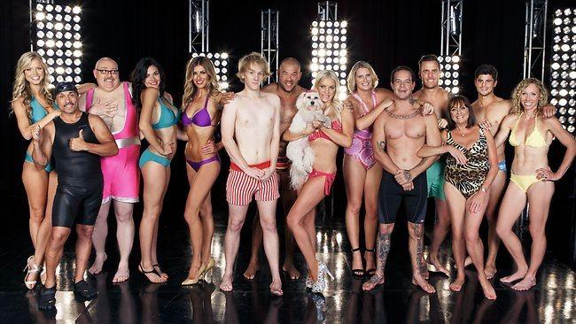 The cast of Celebrity Splash Australia.