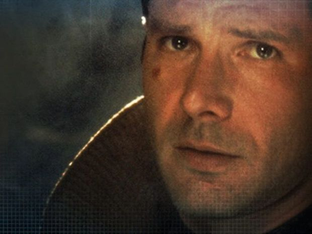 Harrison Ford in a scene from the movie Bladerunner.
