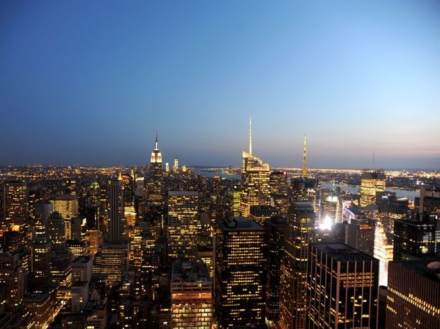 View of New York City from the Rockefeller Centre.