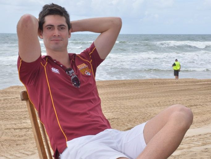 Ben Cutting at Maroochydore Beach.