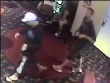 CCTV footage from the night the man was bashed.