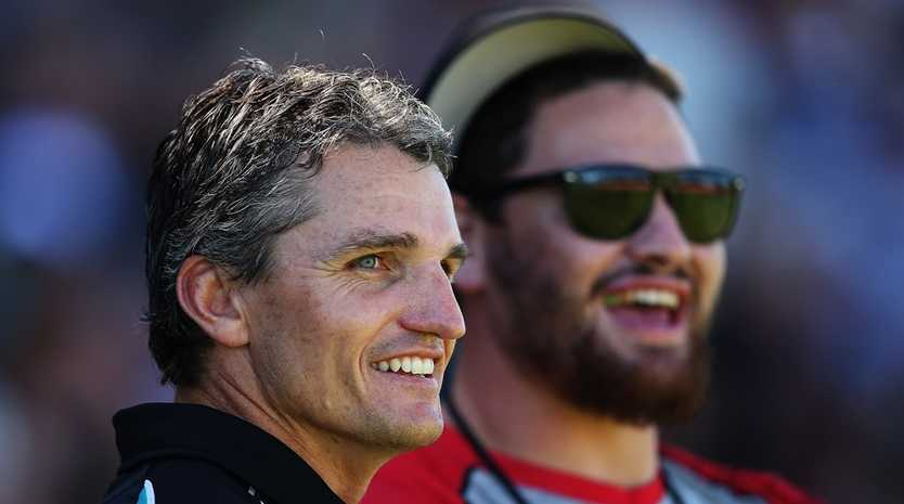 Penrith coach Ivan Cleary (L).