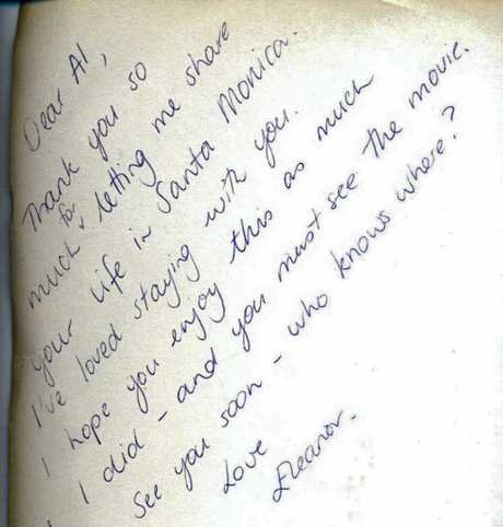 LOVE LETTER: This note was found in the inside cover of a book bought earlier this year at the Rotary books sale in Ballina. Phone 686 0020 if you know the couple.