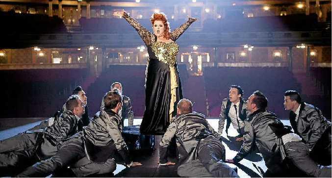 FEELGOOD FANTASY: All eyes are on Magda Szubanski in a scene from the movie Goddess.