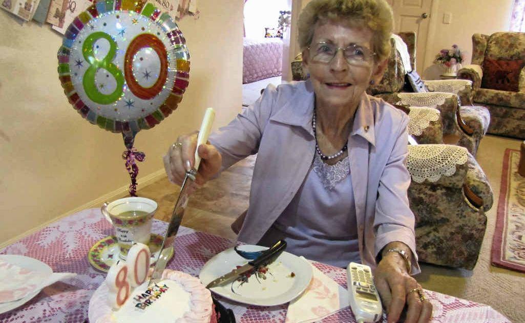 Eaglemount Retirement Village resident Moya Sager celebrated her 80th birthday on February 20.