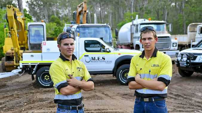 HAPPY WITH PROGRESS: Mechanical Equipment Services' Jake Walker and Ben McKeown.