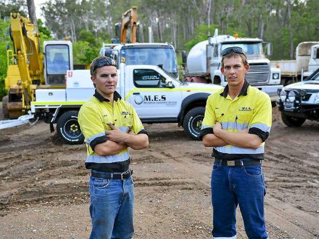 HAPPY WITH PROGRESS: Mechanical Equipment Services' Jake Walker and Ben McKeown.