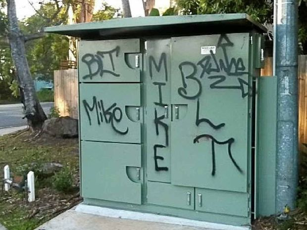 EYESORE: Ugly graffiti tags in Buderim.