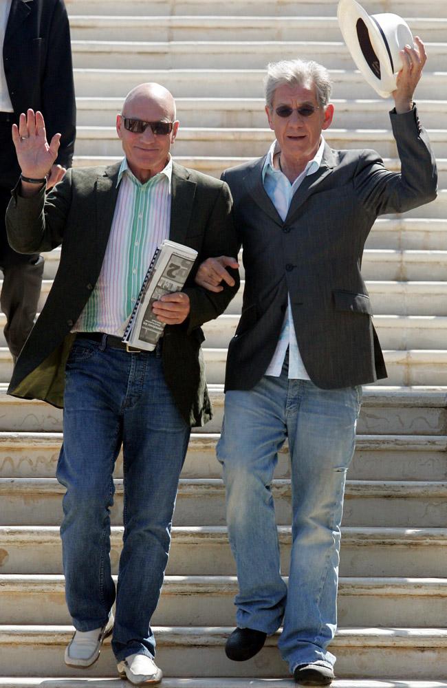 Patrick Stewart and Sir Ian McKellen