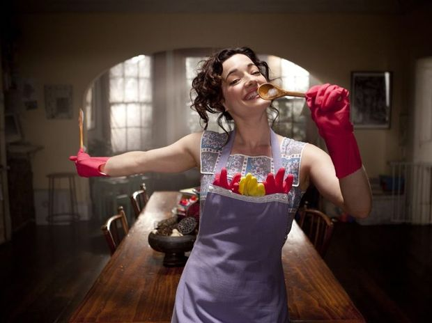 Laura Michelle Kelly in a scene from the movie Goddess.