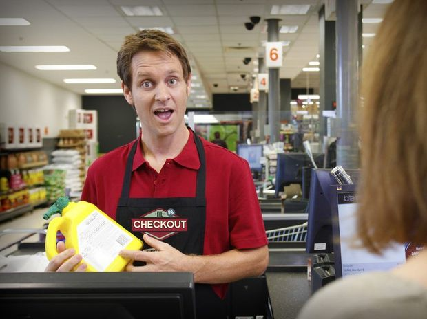 Craig Reucassel stars in the new ABC TV series The Checkout.