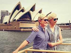 Ellen and Portia arrive in Australia