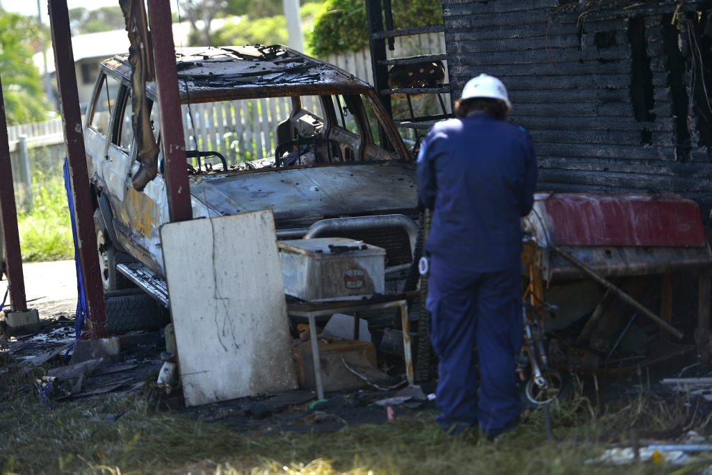 Fire investigators are at a Kianga St, Barney Point home after fire gutted the property on Thursday night.