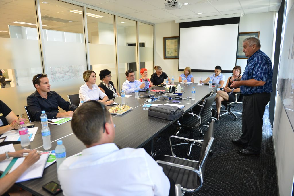 Practical advice for real estate agents workshop held by Mike Eastburn at the Observer Office, Auckland Street, Gladstone.