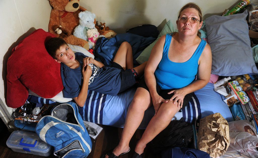 Nicolette Russell is currently couchsurfing at a friend's place with her 15-year-old son Jonty who suffers from autism spectrum disorder.