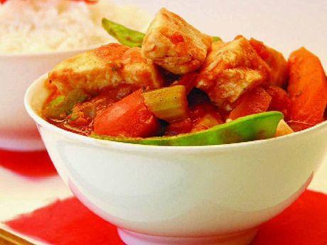 Annette Sym's spicy Thai fish is a tasty option.