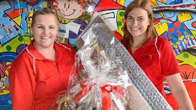 Robin Sherwell and Tracey McAsey with some of the prizes.