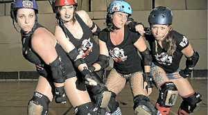 Roller Derby action in Caloundra tomorrow.