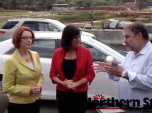 Julia Gillard visits Pacific Hwy project