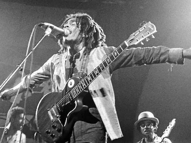 Bob Marley in a scene from the movie Marley.