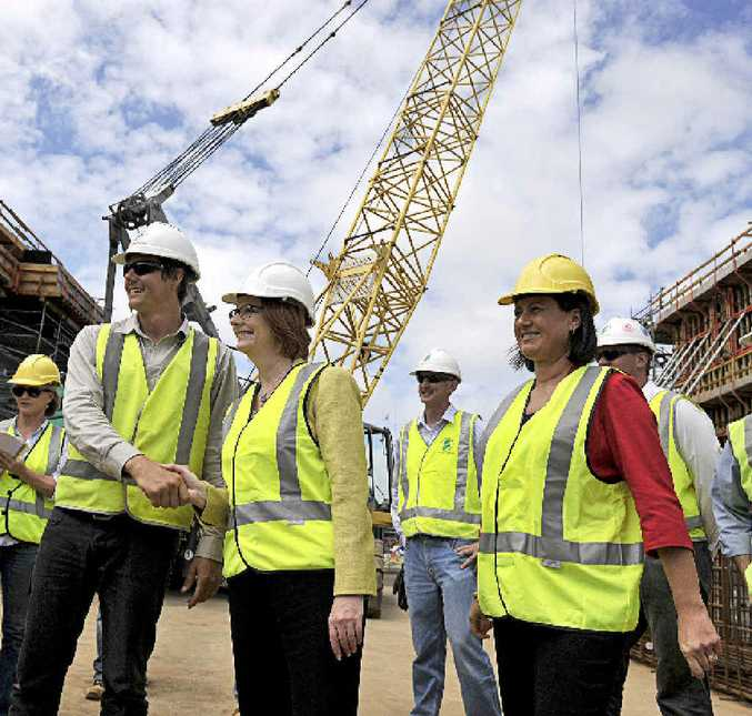 KEY PROJECT: PM Julia Gillard and Member for Richmond Justine Elliot tour the Tintenbar to Ewingsdale highway upgrade. PHOTOS: CATHY ADAMS