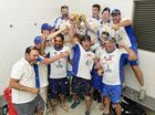 CELEBRATION TIME: Brothers rejoice after taking out the Ipswich Logan Premier League, defeating Laidley in the final.