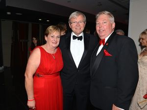 Guests queue for moment with Rudd at Dance for Daniel