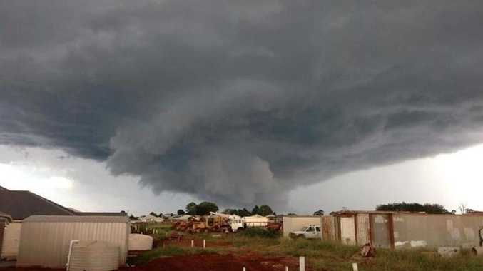 A supercell over Highfields north of Toowoomba captured by Heth Golding.