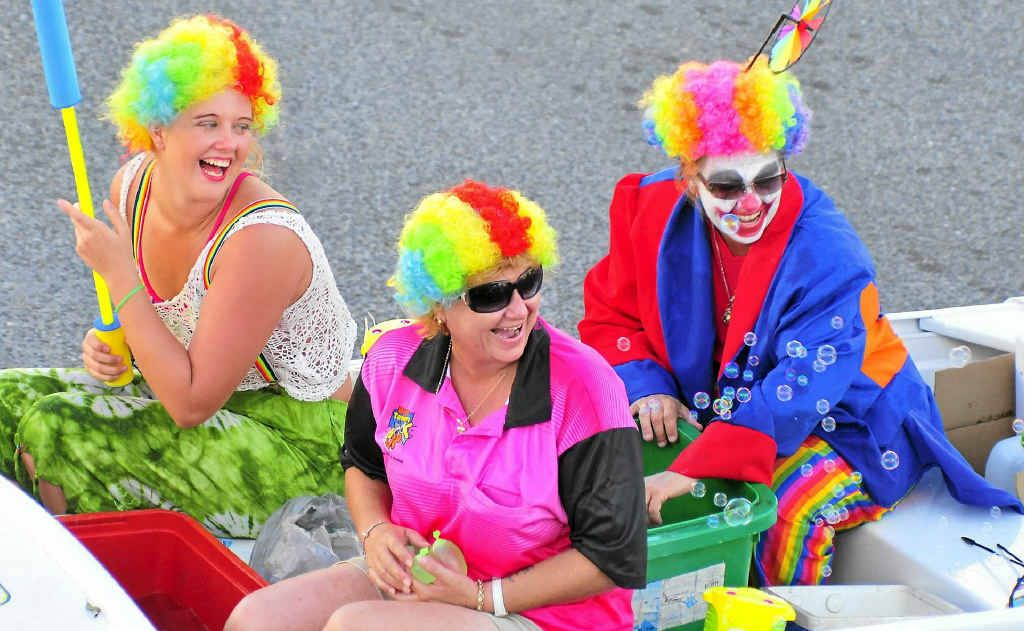 CLOWNING AROUND: The Gladstone Harbour Festival street parade.