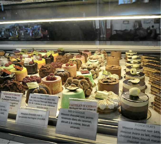 The desserts Patrick Morand creates at his store in Noumea.