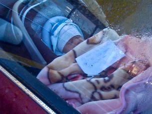 The baby left in the carpark of the Porirua Pak'nSave supermarket.